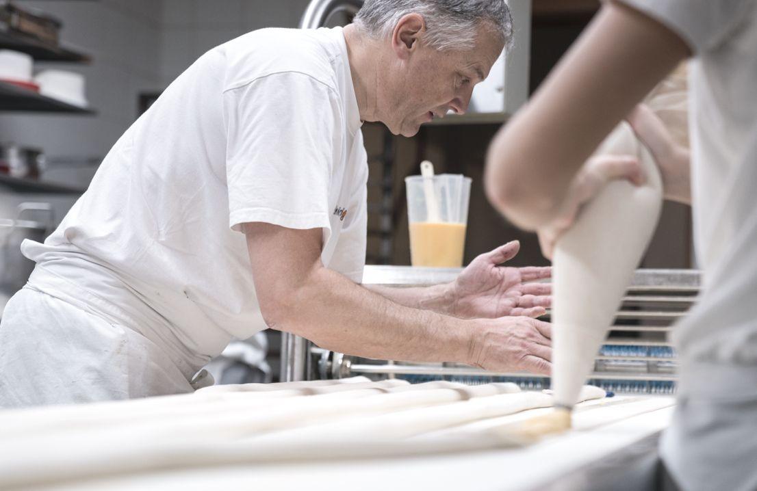 Paul Schnüriger bei der Arbeit